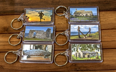 Margaret Carr souvenir key rings