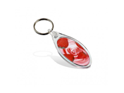IE02 Ellipse teardrop Keyring