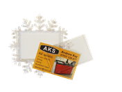 XZF02-CR Snowflake Photo Coaster Unassembled