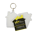 Large House Keyrings 56x60mm Unassembled