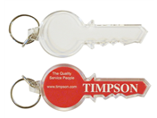 Key Shaped Keyrings Blank