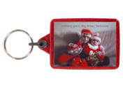 IL05 Red Recycled Festive Photo Keyrings