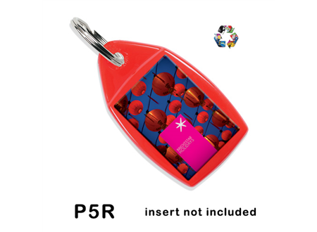P5R Recycled Keyring 24x35mm
