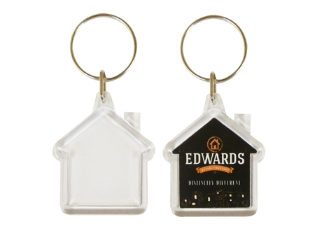 Mini House Keyrings 33x33mm max