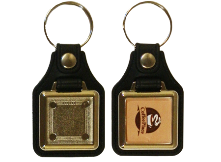 MD10 Metal Square Keyrings 25x25