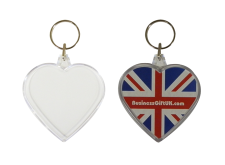 Heart Shaped Keyrings 59x56mm