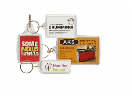 Cheap blank promotional key rings printed and assembled