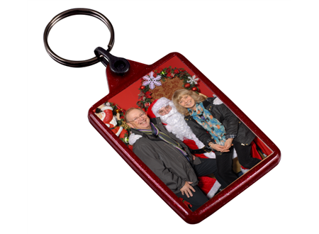 IL05 Red Recycled Festive Keyring