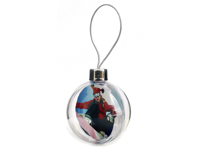 XB02 Bauble clear/clear with photo insert