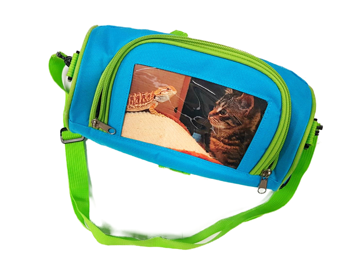 photo insert lunch box cyan