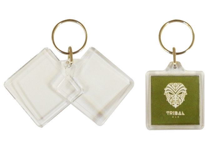 U1 Square Keyrings 32x32mm Blank