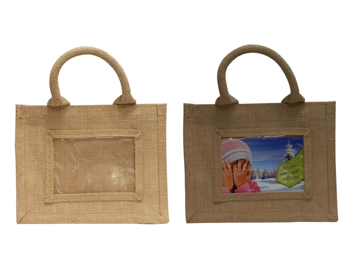 101x152mm 4x6inch Mini Jute Gift Bag AJS46 plain