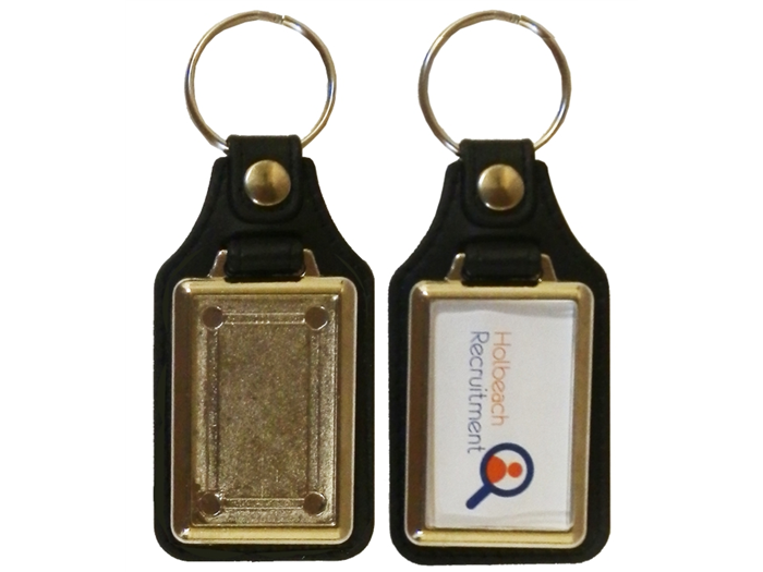 Metal Keyrings 40 x 25mm Blank
