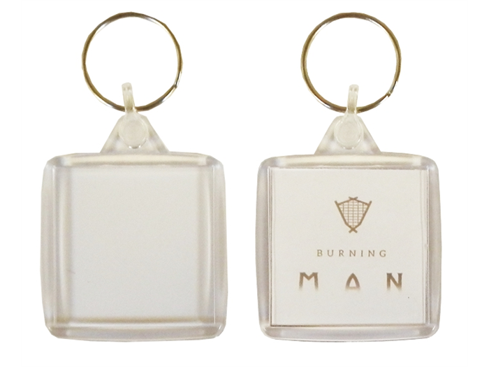 IS02 Square Keyring 38x38mm Blank