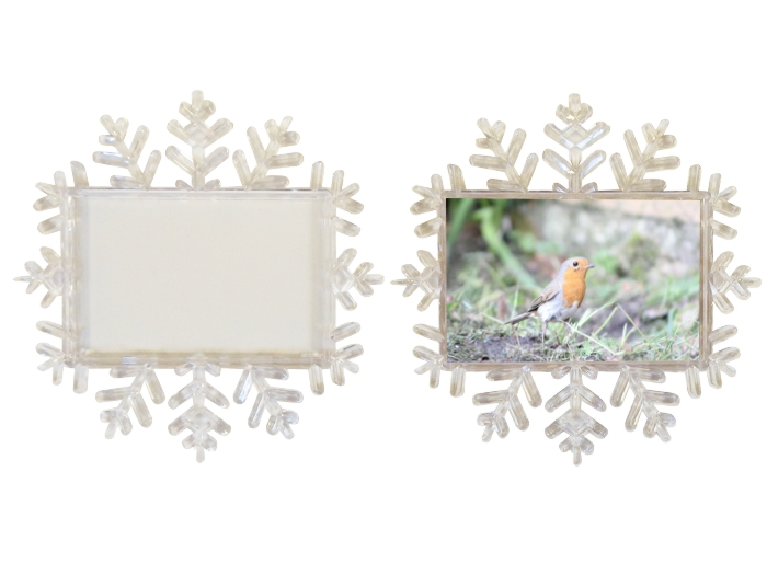 XZF02-CR Snowflake Photo Coaster Blank