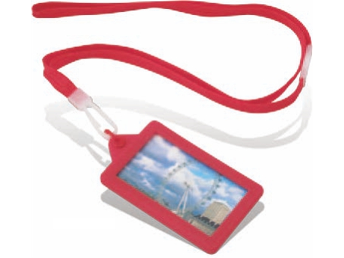 LYZS01-Soft Touch Classic Lanyard Red