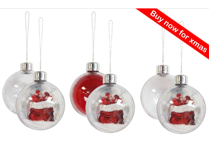 Pack of 6 Baubles