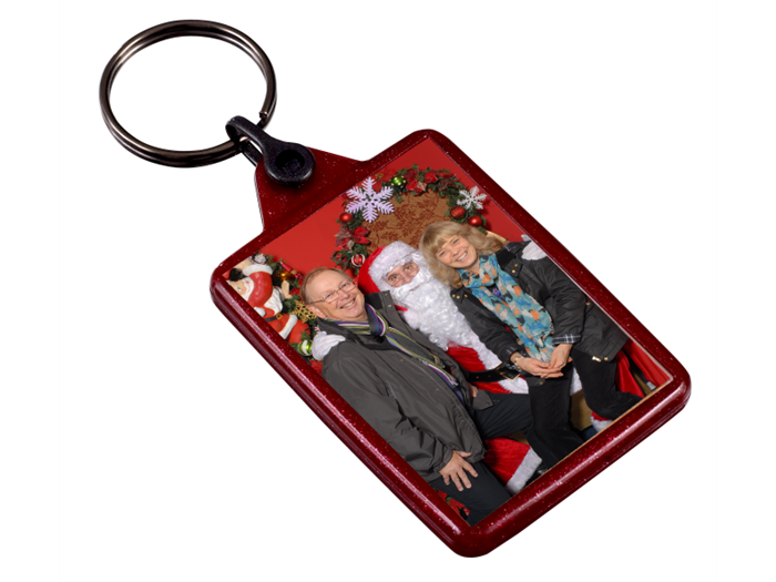 IL05 Red Recycled Festive Keyrings