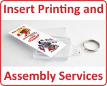 Insert printing and assembly service available